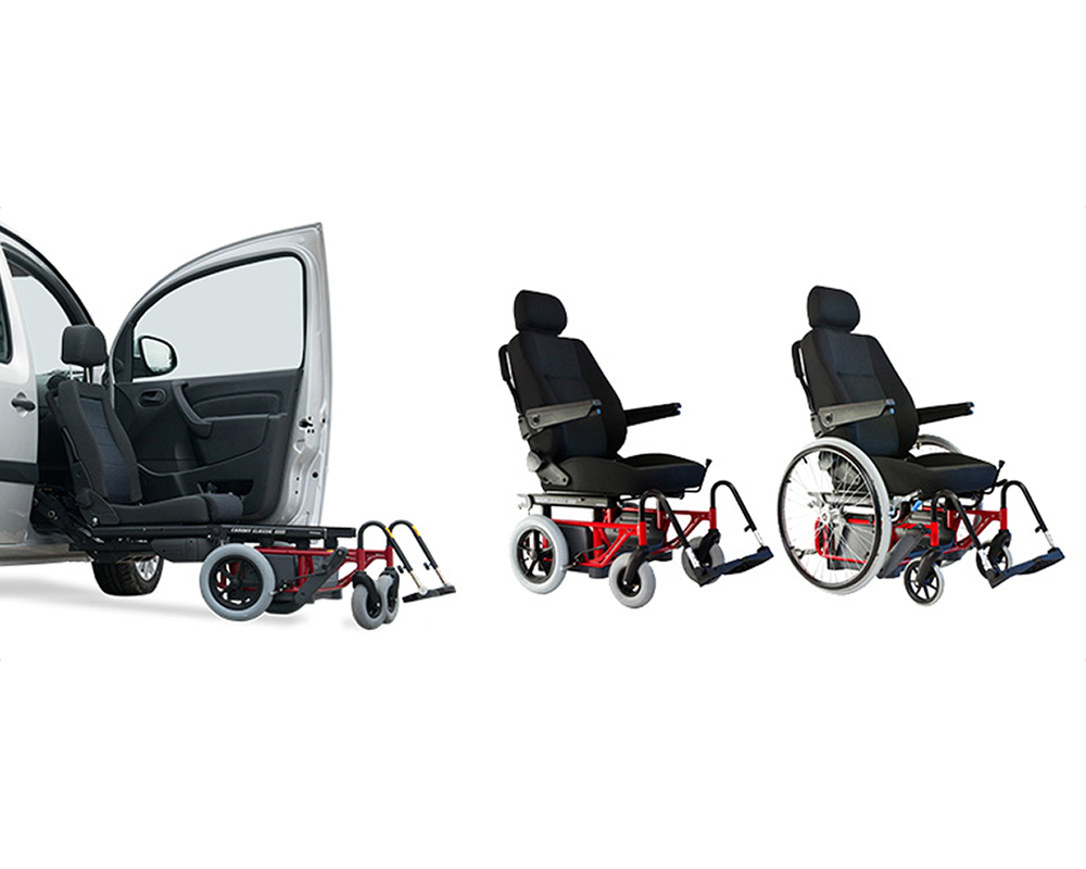 Automobile Adaptation with Swivel Seats for Physically Challenged